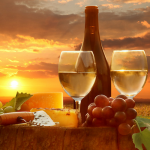 Poháre na víno a šampanské