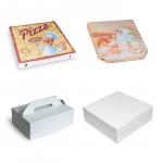 Papierové krabice na tortu, zákusky a pizzu
